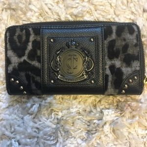 Juicy Couture leopard continental wallet